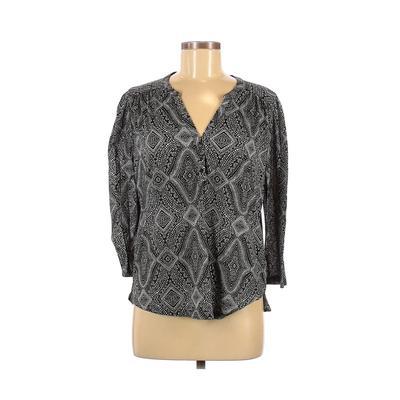 H&M Long Sleeve Top Black Paisle...