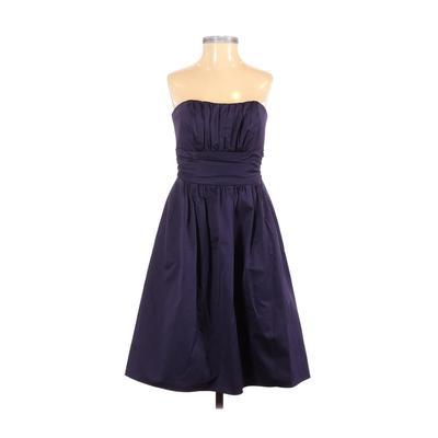 David's Bridal Cocktail Dress - Party: Purple Solid Dresses - Used - Size 2