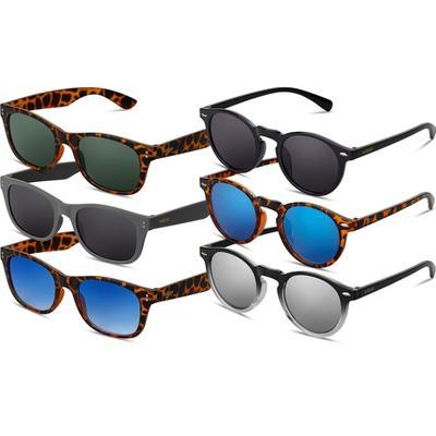 Lot de 6 lunettes de soleil Smooder® by Twig avec protection UV 400 cat.3 : Mix