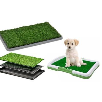Litière herbe synthétique pour chiens : 47 x 34 x 6 cm
