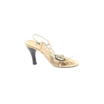 Costume National Heels: Gold Sol...