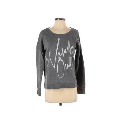 Material Girl Sweatshirt: Gray Print Clothing - Size Small