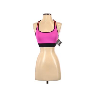 Victoria Sport Sports Bra: Pink Color Block Activewear - Size Small
