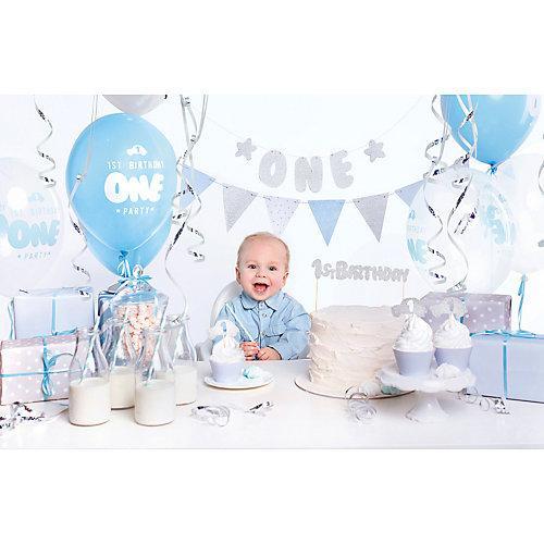 Erster Geburtstag Partydeko Set blau