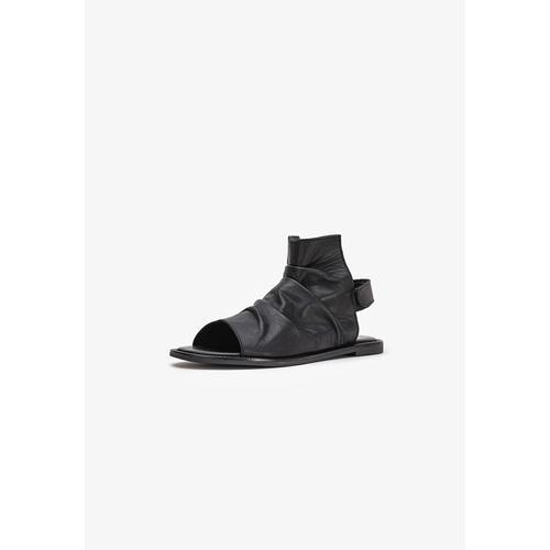 INUOVO Schaftsandalette Leder schwarz Damen Sandaletten Sandalen