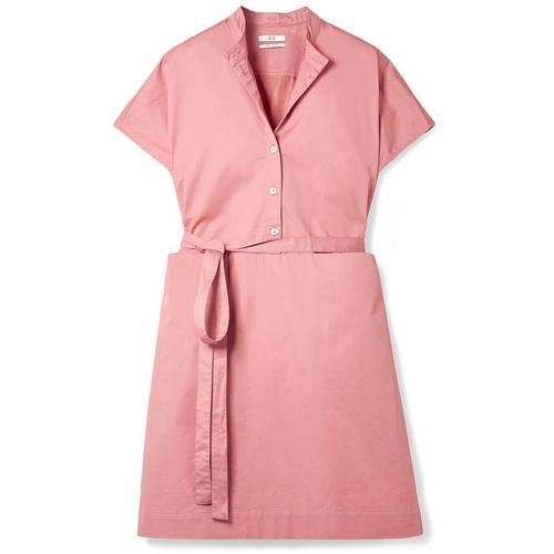 Co. Kleid Aus Baumwollsatin Mit Gürtel