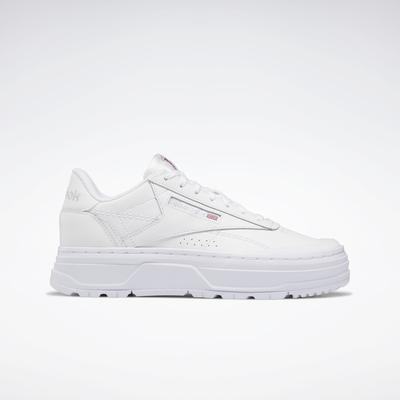 Reebok Women's Club C Double GEO Shoes in Ftwr White/Ftwr White/Pure Grey 4 Size 7.5 - Lifestyle Shoes