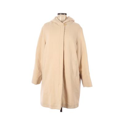 Giorgio Armani Wool Coat: Tan Solid Jackets & Outerwear - Size 12