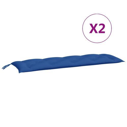 vidaXL Auflage für Hollywoodschaukel Blau 150 cm Stoff