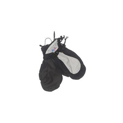 Sessions Mittens: Black Solid Ac...