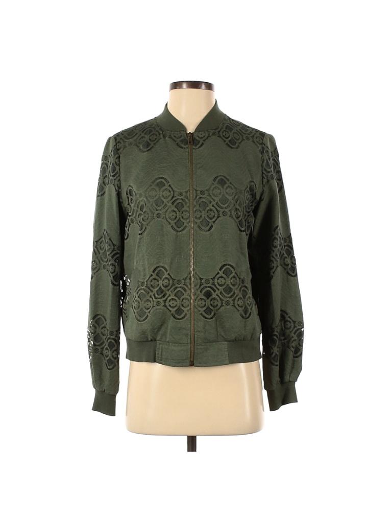 Blue Rain Jacket: Green Jackets & Outerwear - Size Small