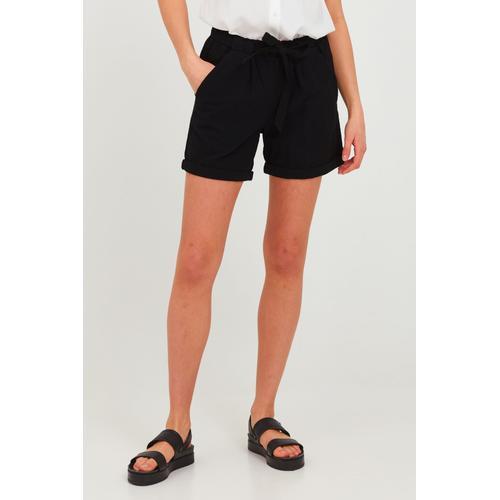 OXMO Chinoshorts Lina, (mit Gürtel), mit Gürtel schwarz Damen Shorts Bermudahosen Hosen