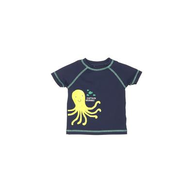 Carter's Rash Guard: Blue Solid Sporting & Activewear – Size 12 Month