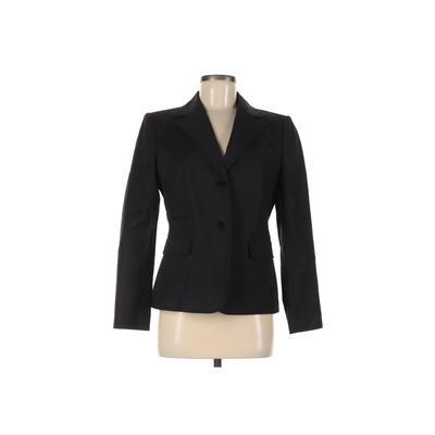 Calvin Klein Blazer Jacket: Black Solid Jackets & Outerwear - Size 8