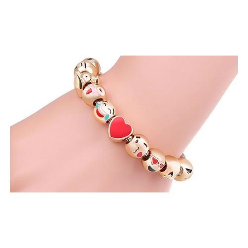 Armband: Emoji Armband mit 3 Charms/2