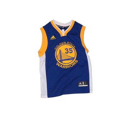 NBA Sleeveless Jersey: Blue Solid Sporting & Activewear - Size Small