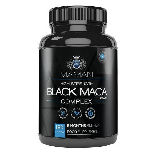 Viaman Maca Kapseln - Hochdosiert 5000 mg - 180 Kapseln- Natürliches männliches Potenzmittel - Für mehr Leistung, Antrieb, Vitalität und Ausdauer