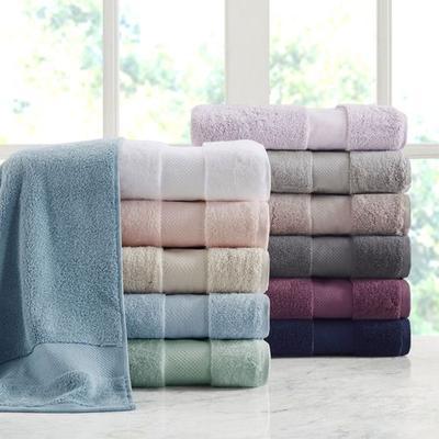 Turkish Cotton Bath Towel Set Six Piece Set, Six Piece Set, White