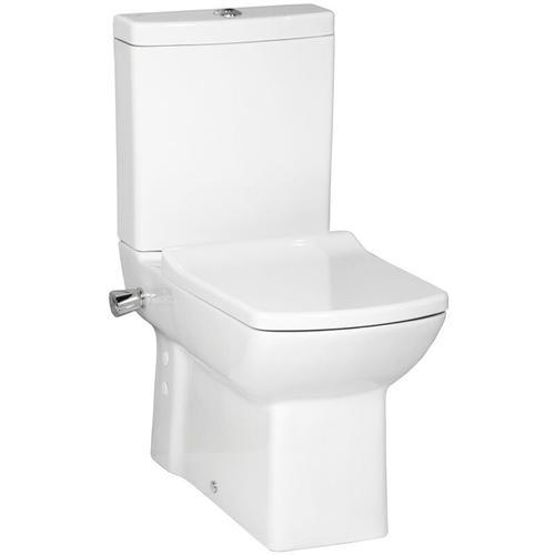 Creavit - Lara Stand-Kombi-WC mit Bidetfunktion, integrierter Armatur und SoftClose TakeOff WC-Sitz