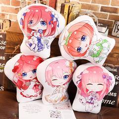 Jouets en peluche de Quintuplets, dessin animé le quintessentiel, poupée d'oreiller doux, Nakano