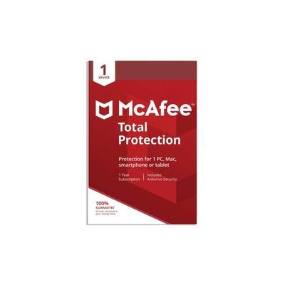 Logiciel antivirus McAfee Total Protection 2021 pour 1 ordinateur pendant 1 an