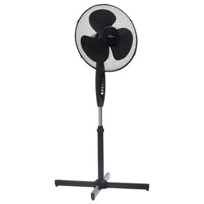 vidaXL Ventilateur sur pied Φ40 cm 120 cm Noir