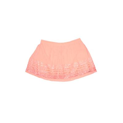 Hollister Skirt: Pink Solid Skir...