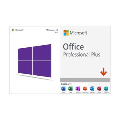 Logiciels Microsoft téléchargeables en ligne : Microsoft Windows 10 Pro et Microsoft Office Professional Plus 2019