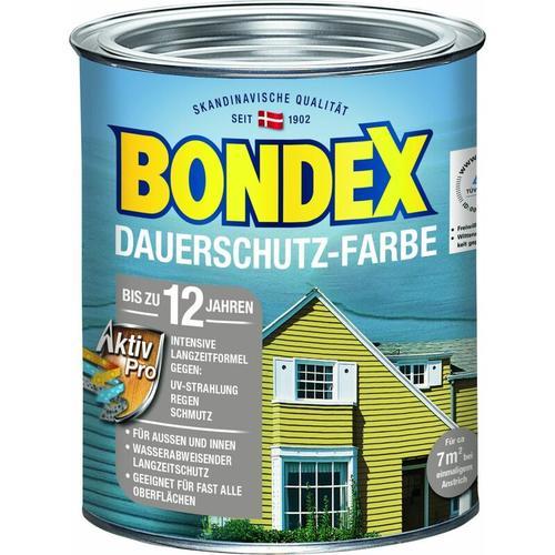 Bondex Dauerschutz-Farbe Holzschutzlasur Taupe Hell, 750 ml