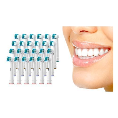 Zahnbürstenköpfe kompatibel mit elektrischen Zahnbürsten von Oral B: 48er-Pack