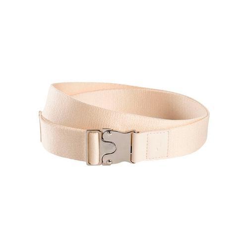 TOM TAILOR Stoffgürtel, Mit Lederbesatz und Logo-Prägung beige Damen Stoffgürtel Gürtel Accessoires