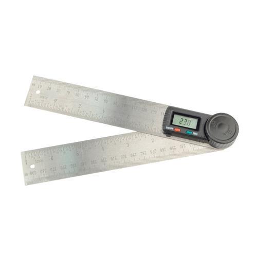 Brüder Mannesmann Werkzeuge Winkelmesser, inkl. Batterie silberfarben Winkelmesser