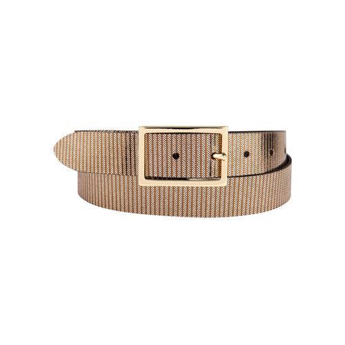 BERND GÖTZ Ledergürtel, mit metallisch reflektierender Streifenoptik braun Damen Ledergürtel Gürtel Accessoires