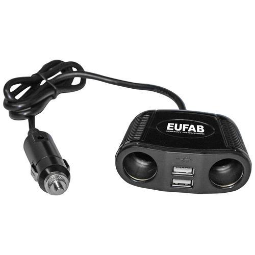 EUFAB Zigarettenanzünder-Verteiler, 12 V, 4 in 1 schwarz Eufab Zigarettenanzünder-Verteiler