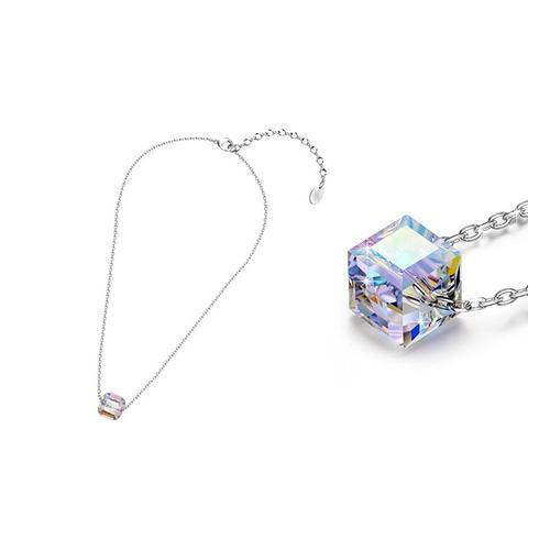 Halskette mit Kristall-Anhänger in Regenbogen-Farben: 1