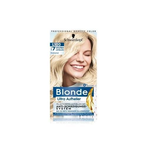 Schwarzkopf Blonde Ultra Aufheller L100 Eisblond bis zu 7 Stufen Aufhellung Haarfarbe 175 ml