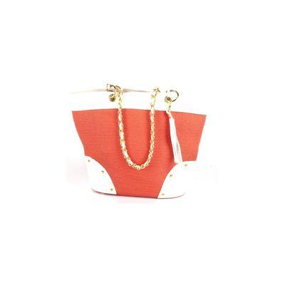 Global Glamour Fashion - Global Glamour Fashion Shoulder Bag: Orange Color Block Bags