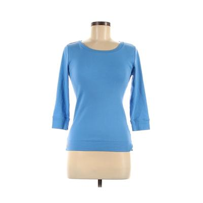 Ralph Lauren Sport Active T-Shirt: Blue Solid Activewear - Size Medium