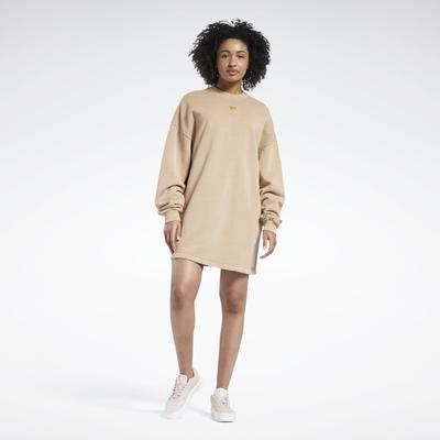 Reebok Women's Classics Natural Dye Crew Dress in Wild Brown Size XS - Casual Clothing