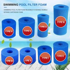 Filtre en mousse pour piscine, réutilisable, lavable, pour H/A/S1/I/II/VI/ D/VII/B