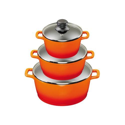 KING Kochtopfset 3-teilig (orange)