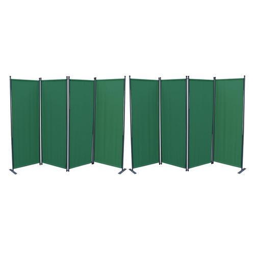 Grasekamp Paravent 2er Set (grün, 4-teilig)
