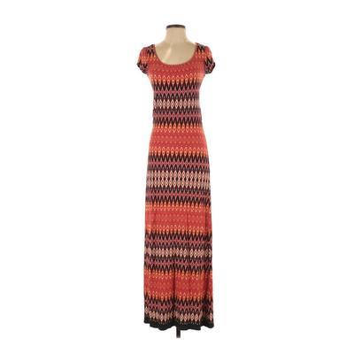 Wallis Casual Dress - Maxi: Orange Print Dresses - Used - Size Small