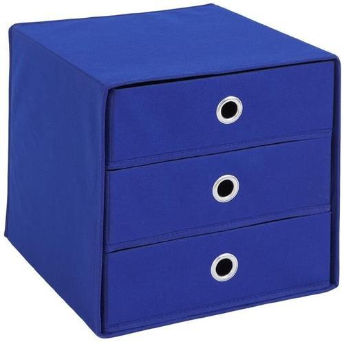 Fmd Mobel - 248-031 Mega 31 Blau Korb Regalkorb Fleecekorb Stoffkorb mit 3 Schubladen-'SW9372'