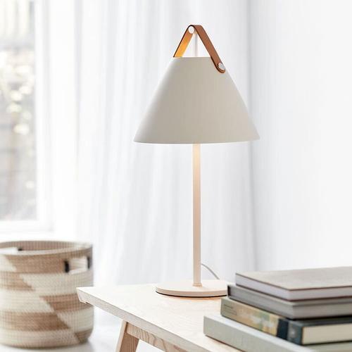 Designer Tischleuchte Strap, E27, weiß, by Bjorn & Balle