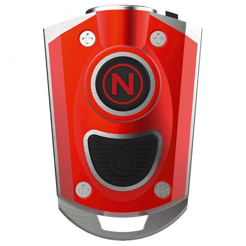 NEBO - LED Schlüsselanhänger - LED-Lampe rot/grau
