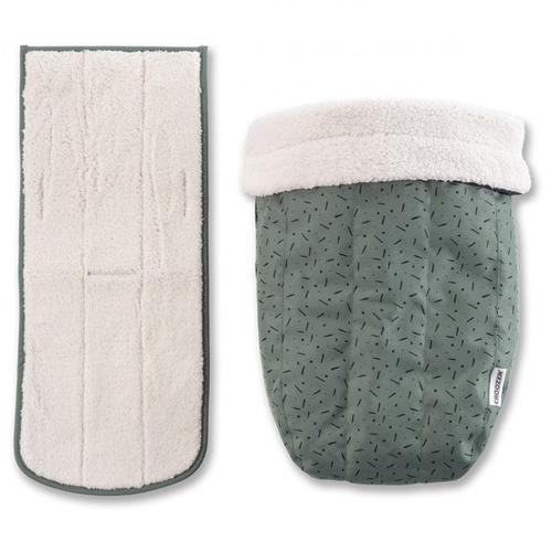 Croozer - Babysitz Winter-Set grün/schwarz