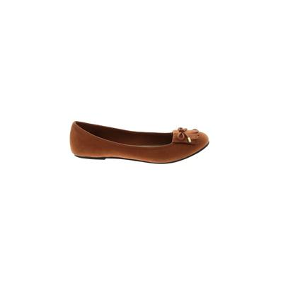 American Eagle Shoes Flats: Brown Solid Shoes - Size 7 1/2