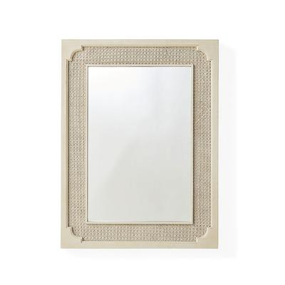 Marion French Cane Wall Mirror -...