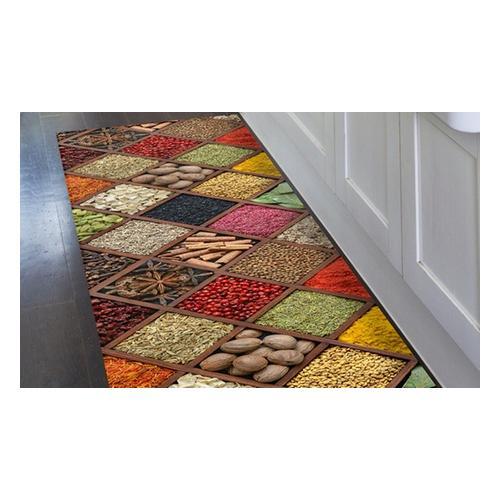 Kitchen runner carpet PVC Mes. 52 x 230 cm - Style Macarons